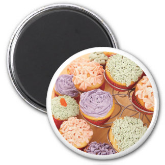 Grandmother Cupcakes Mother's Day, Round Gift Magnet