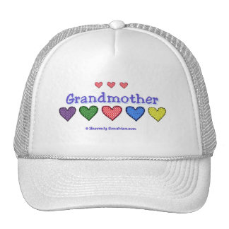 Grandmother Gingham Hearts Trucker Hat