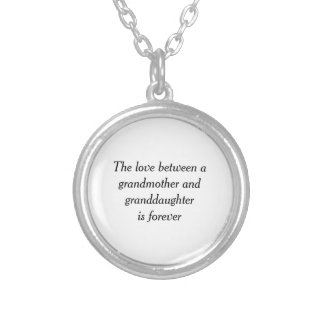 Grandmother & granddaughter love round pendant necklace