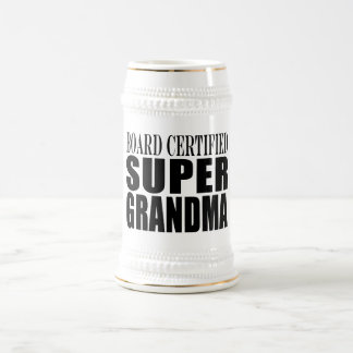 Grandmother Grandmas Board Certified Super Grandma Mugs