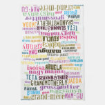 Grandmother In Many Languages Kitchen Towel