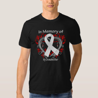 Grandmother - In Memory Lung Cancer Heart Tee Shirts