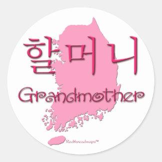 Grandmother (Korean) map Stickers