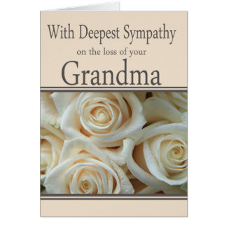 Grandmother loss Rose sympathy Card