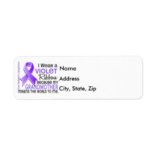 Grandmother Means World To Me 2 H Lymphoma Return Address Label