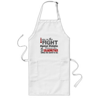 Grandmother Means World To Me Diabetes Long Apron