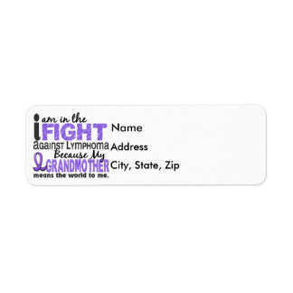 Grandmother Means World To Me H Lymphoma Return Address Label