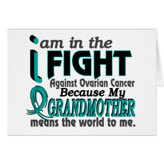 Grandmother Means World To Me Ovarian Cancer Greeting Card