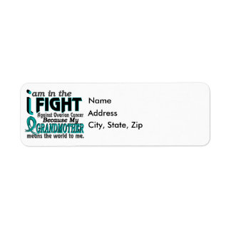 Grandmother Means World To Me Ovarian Cancer Label
