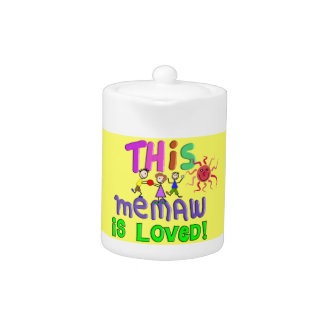 Grandmother Memaw Tea Pot