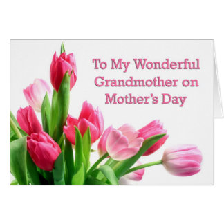 Grandmother Mother's Day Tulips Card