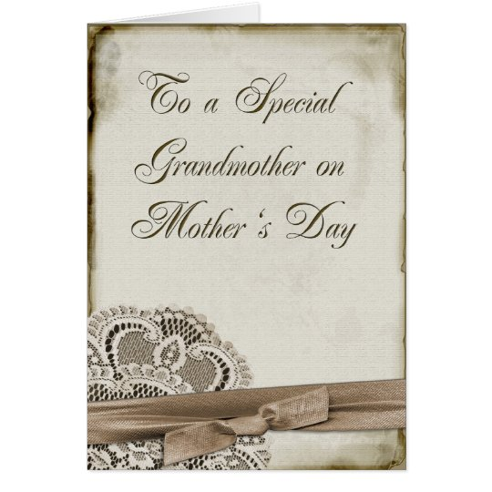 Grandmother Mother's Day Vintage Card