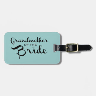 Grandmother of Bride Black on Sea Bag Tag