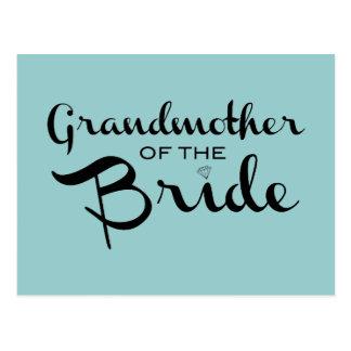 Grandmother of Bride Black on Sea Postcard