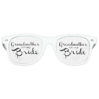 Grandmother of Bride Black on White Retro Sunglasses