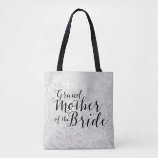 Grandmother of Bride Gift Bridal Canvas Tote Bag