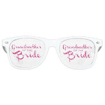 BetterOffWed Grandmother of Bride Pink on White Retro Sunglasses