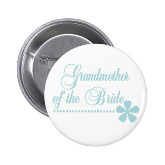 Grandmother of Bride Teal Elegance 2 Inch Round Button