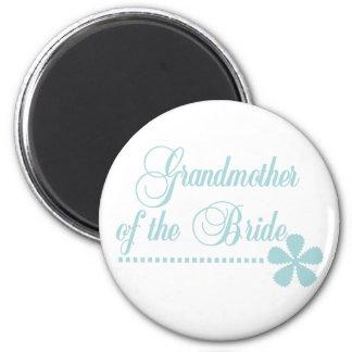 Grandmother of Bride Teal Elegance 2 Inch Round Magnet
