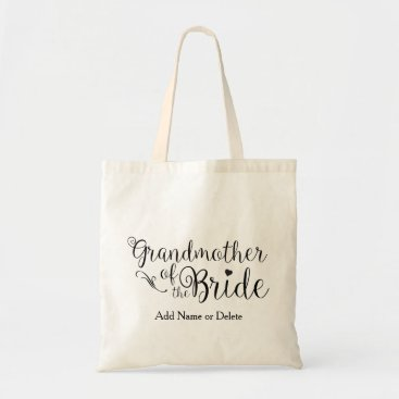 HappyDesigner Grandmother of Bride Tote Budget Canvas Tote Bag