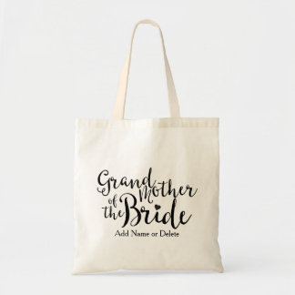 Grandmother of Bride Tote Budget Canvas Tote Bag
