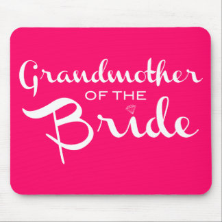 Grandmother of Bride White on Hot Pink Mouse Pad