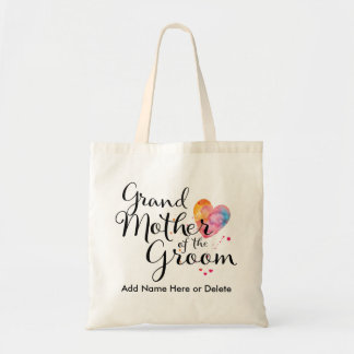 Grandmother of Groom Budget Tote Watercolor Budget Tote Bag