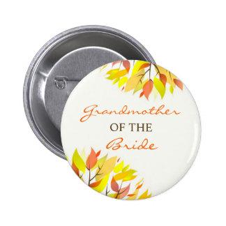 Grandmother of the Bride Autumn Wedding Button
