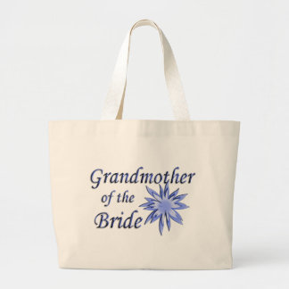 Grandmother of the Bride Blue Large Tote Bag