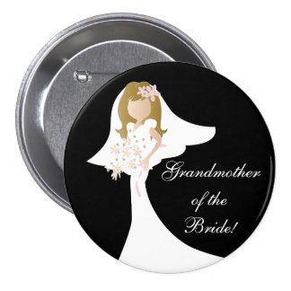 Grandmother of the Bride Button Pin