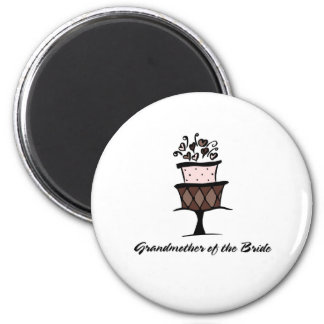 Grandmother of the Bride Cake 2 Inch Round Magnet
