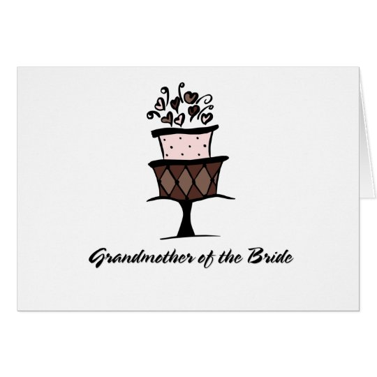 Grandmother of the Bride Cake Card