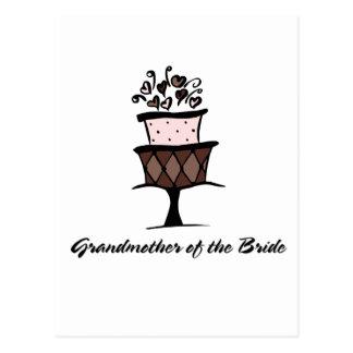 Grandmother of the Bride Cake Postcard