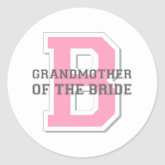 Grandmother of the Bride Cheer Classic Round Sticker
