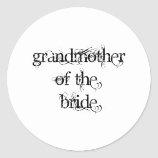 Grandmother of the Bride Classic Round Sticker