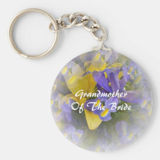 Grandmother Of The Bride Keychain Irises And Lily