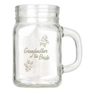 Grandmother of the Bride Mason Jar