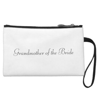 """Grandmother of the Bride"" Mini Clutch Wristlet Clutches"