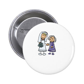 Grandmother Of The Bride On Wedding Day Button