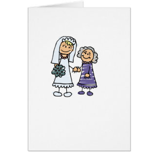 Grandmother Of The Bride On Wedding Day Greeting Card