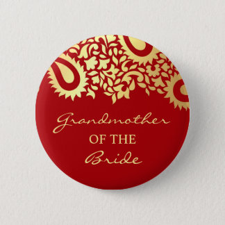 Grandmother of the Bride Paisleys Wedding Button