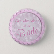 Grandmother of the Bride Pink Confetti Pinback Button