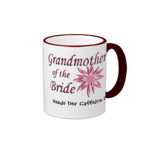 Grandmother of the Bride Pink Ringer Coffee Mug