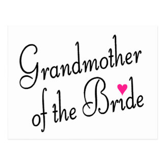 Grandmother Of The Bride Postcards
