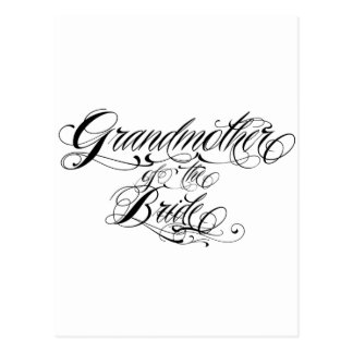 grandmother of the bride postcard