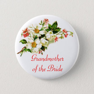 Grandmother of the Bride Spray of Flowers Floral Button