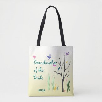 Grandmother of the Bride Spring Wedding Tote Bag