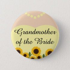 Grandmother Of The Bride Sunflowers Wedding Pin at Zazzle