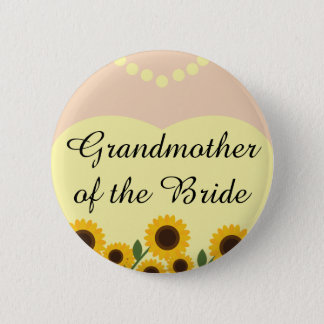 Grandmother of the Bride Sunflowers Wedding Pin