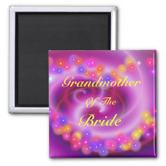 Grandmother Of The Bride Swirly Heart Magnet
